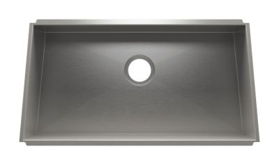 Trapezoid Undermount Kitchen Sink with Single Bowl