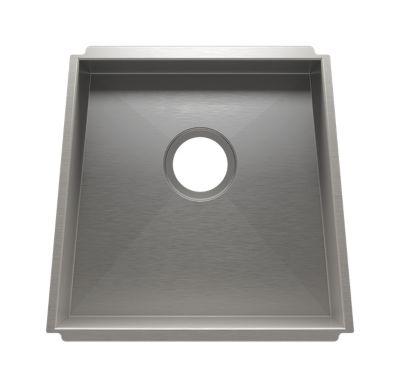 Trapezoid Undermount Kitchen Sink with Single Bowl