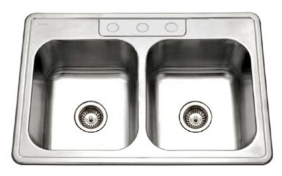 Glowtone Builder Series Topmount Double Bowl Kitchen Sink