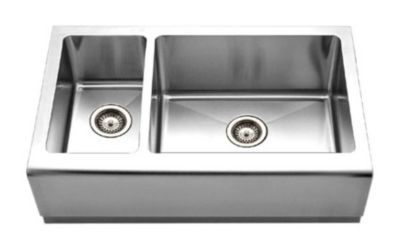 Epicure Farmhouse Undermount Double Bowl Kitchen Sink