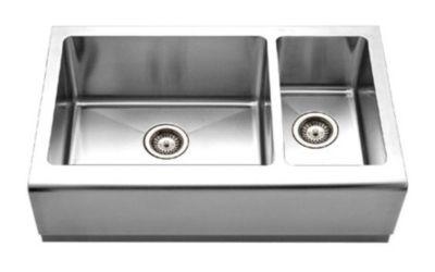 Epicure Farmhouse Undermount Double Bowl Kitchen Sink