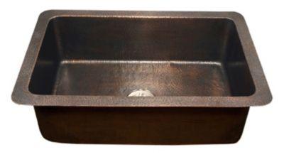 Hammerwerks Copper Single Chalet Chef Kitchen Sink