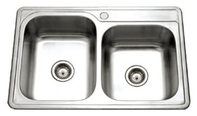Glowtone Topmount Double Bowl Kitchen Sink