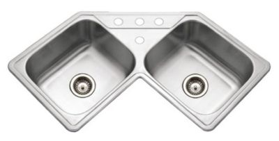 Legend Topmount Corner Bowl Kitchen Sink