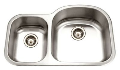 Medallion Designer Undermount Double Bowl Kitchen Sink