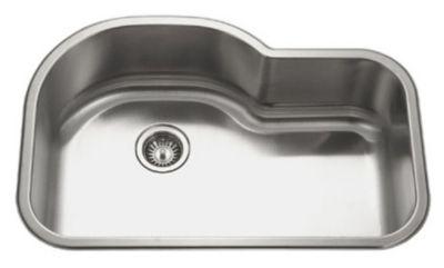 Medallion Designer Undermount Offset Single Bowl Kitchen Sink
