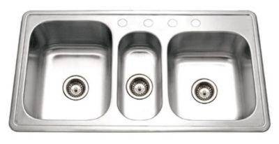 Premiere Gourmet Topmount Triple Bowl Kitchen Sink
