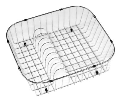 Stainless Steel Rinsing Basket with Plate Rack