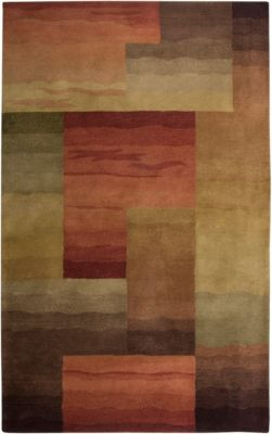Colours Area Rug - Terracotta/Light Ochre/Mushroom