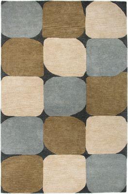 Colours Area Rug - Charcoal/Beige/Mushroom/Slate Blue