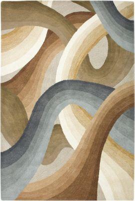 Colours Area Rug - Mushroom/Sienna/Slate Blue