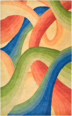Colours Area Rug - Poppy/Cobalt/Grass Green/Wheat