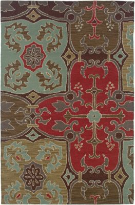 Country Area Rug - Beige