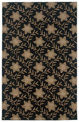 Country Area Rug - Ink Black/Buff/Gray