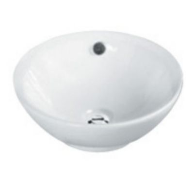 Above Counter Round Ceramic Basin with Overflow