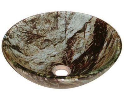 Sassari 17mm Round Tempered Artistic & Layered Glass Vessel