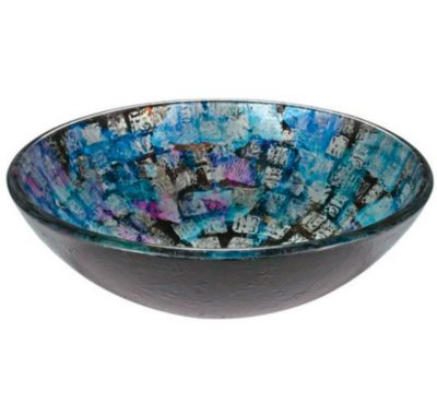 Foggia 12mm Round Tempered Glass Shell Artistic Hand-Painted Layered Glass Vessel