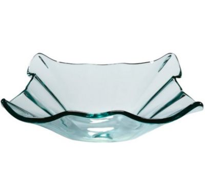 Carpi 12mm Square Shape Tempered Glass Natural Clear Glass Vessel