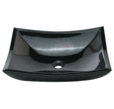 Zen Natural Rectangular Stone Vessel