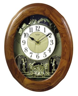 Joyful Nostalgia Oak Magic Motion Clock