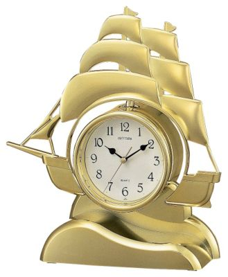Sailing Ship Contemporary Motion Clock