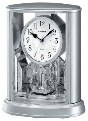 Silver Teardrop Contemporary Motion Clock