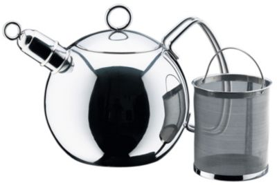 WMF 1.5 Quart Ball Tea Kettle with Tea Infuser - Polished