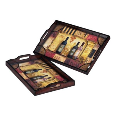 Wine Trays - Set of 2