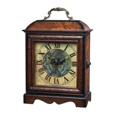 Green Butterfly Wooden Display Clock