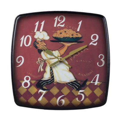 Busy Chef Wooden Clock