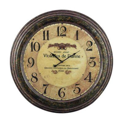Violettes De Parme Metal Clock