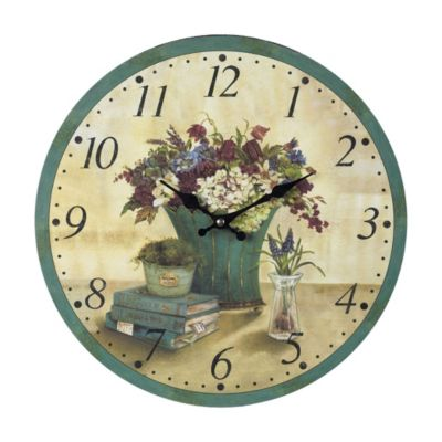 Bouquet Wooden Clock