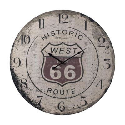 Route 66 Wooden Clock