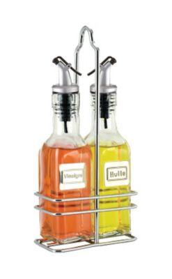 Cuisinox Oil & Vinegar Set with Caddy-English