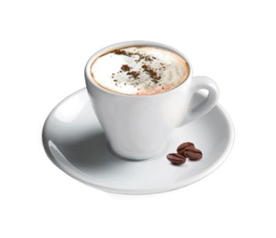 Cappuccino Cup-White Porcelain