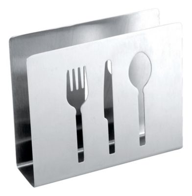 Napkin Holder with Flatware Cut Outs