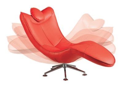 Series 815 upholstered swivel lounge chaise red for Chaise serie 7
