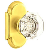 Crystal Passage Knob Set with Old Town Clear Knob & #8 Rosette