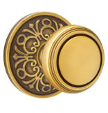 Brass Classic Privacy Knob Set with Norwich Knob & Lancaster Rosette