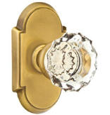 Crystal Privacy Knob Set with Astoria Clear Knob & #8 Rosette