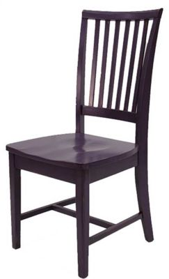 Xpress Mission Side Chair with Wood Seat