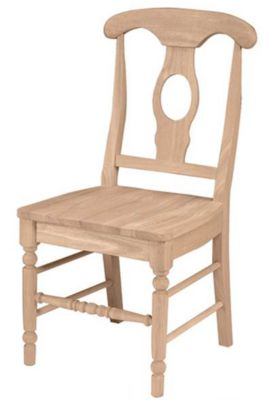 Xpress Empire Side Chair with Wood Seat