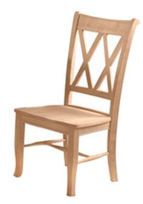 Xpress Double X-Back Chair with Wood Seat
