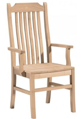 Xpress Tall Mission Arm Chair with Slat Back