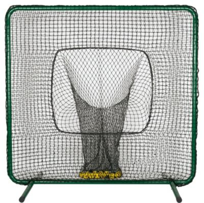 7' Batting Practice Screen with Ball Sock