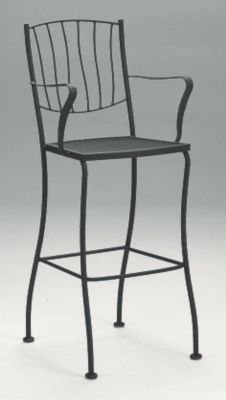 Aurora Stationary Arm Barstool without Cushions
