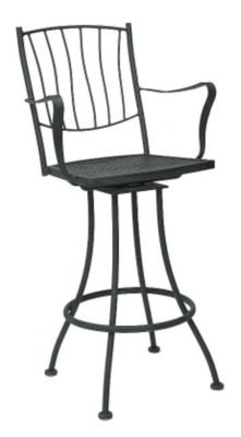 Aurora Swivel Barstool with Arms without Cushions