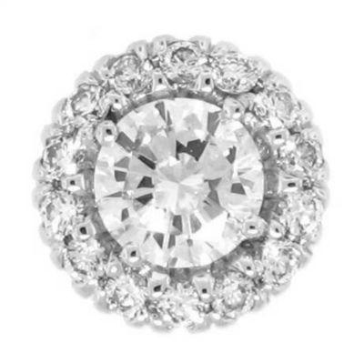 Halo Semi-Mount Cluster Set Diamond Earring Loops - 1/4 ct tw
