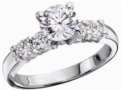Women's Classic Semi-Mount Shared Prong Diamond Engagement Ring  - 5/8 ct tw