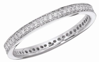 Women's Bead Set Diamond Band - 1/4 ct tw